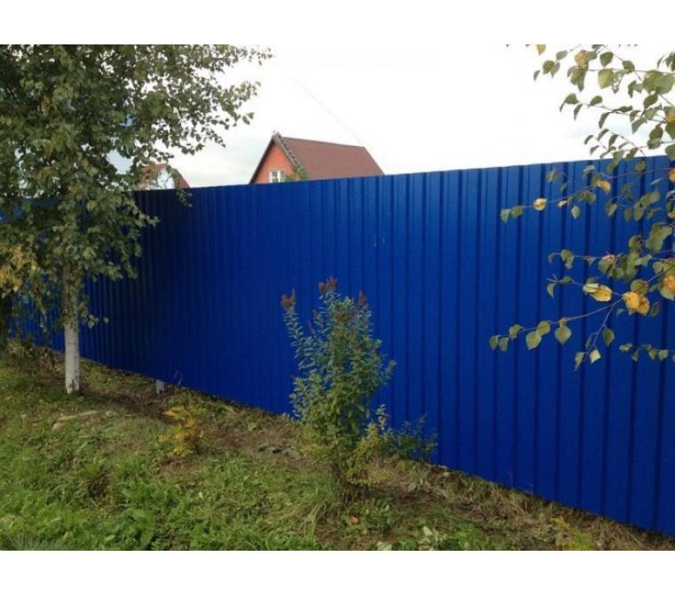 Забор с бетонированием столбов